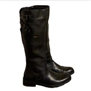 Ultratex Black Leather Boots - Women's Size 38